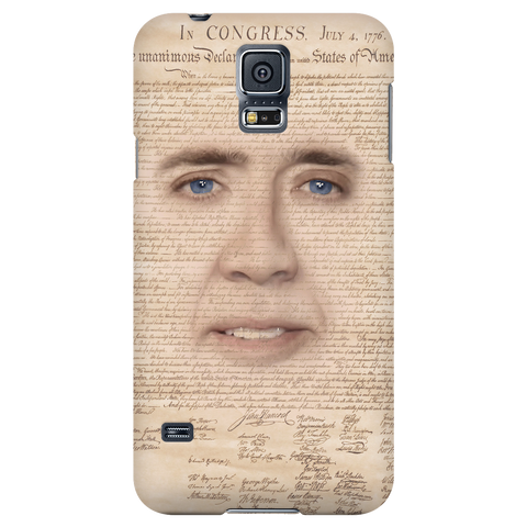 Nicolas Cage with Declaration of Independence Phone Case - Meme Cuisine - Meme Phone Cases