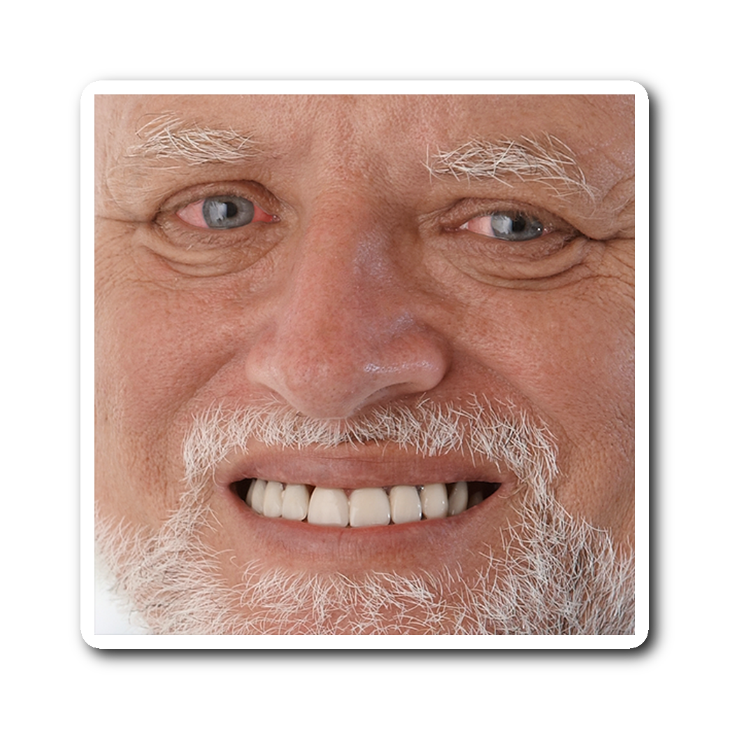 Harold meme sticker