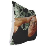 Danny Devito Money Throw Pillow