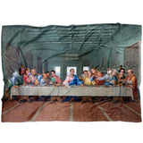 The Last Supper at Dunder Mifflin Fleece Blanket | The Office TV Show Funny Meme Throw Blanket | The Office Lover Gifts Dorm Decor