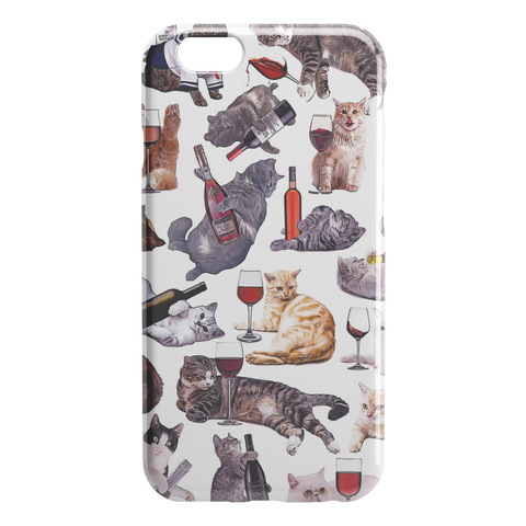 Cats with Wine iPhone Case - Funny Cat iPhone 6 / 6s Case - Meme Cuisine