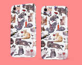 Cats with Wine iPhone Case - Funny Cat iPhone X Case, iPhone XS Max Case, iPhone XR, iPhone 6 6s Plus Case, 7 8 Plus, iPhone 11 Pro Max Case