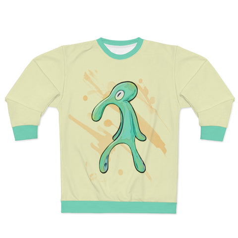 Spongebob Bold and Brash Meme Sweatshirt - Funny Squidward Painting Sweater - meme cuisine