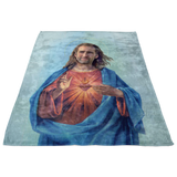 Nicolas Cage as Jesus Fleece Throw Blanket - Meme Cuisine - Meme Blankets