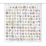 Original 151 Pokemon Shower Curtain - Meme Cuisine - Meme Shower Curtains