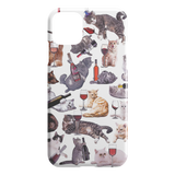Cats with Wine iPhone Case - Funny Cat iPhone 11 Pro Max Case - Meme Cuisine