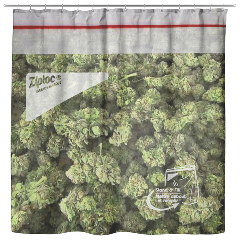 Bag of Weed Shower Curtain - Meme Cuisine - Meme Shower Curtains