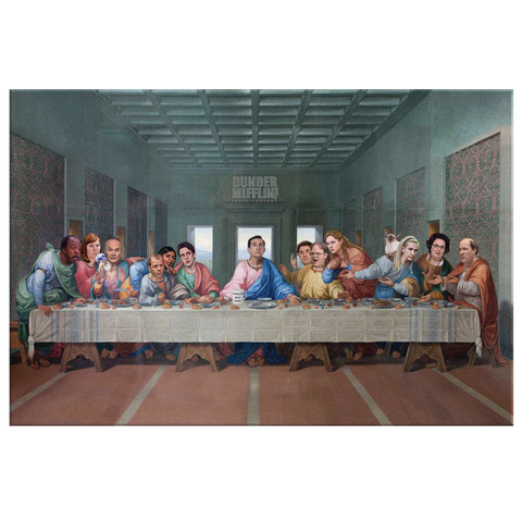 the last supper, the office tv show the last supper, the last supper with Michael Scott, wall art, house decor of the office tv show,