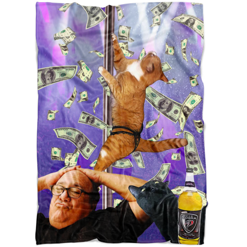 Danny Devito Stripper Cat Fleece Throw Blanket