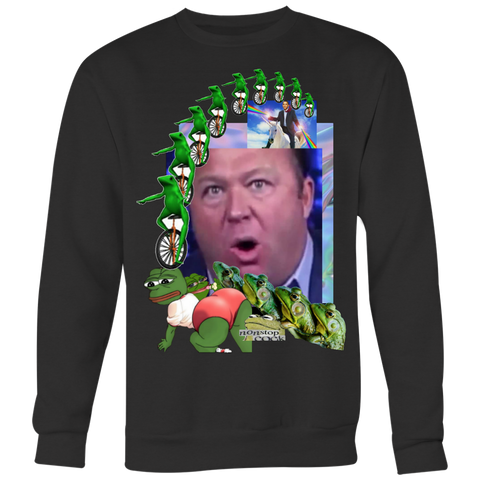 Alex Jones Gay Frogs Sweatshirt - Meme Cuisine - Meme T-shirt