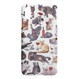 Cats with Wine iPhone Case - Funny Cat iPhone X Max Case / XS Max Case - Meme Cuisine