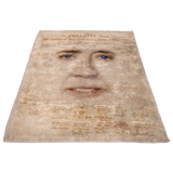 Nicolas Cage with Declaration of Independence Blanket - Vertical - Meme Cuisine - Meme Blankets