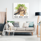 Pussy Money Catnip Canvas Print - Meme Cuisine - Meme Canvas Wall Art 2