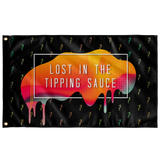 "Tipper ""Lost in the Tipping Sauce"" Flag - Meme Cuisine - Meme Flags"