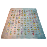 Original 151 Pokemon Fleece Throw Blanket - Meme Cuisine - Meme Blankets
