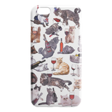 Cats with Wine iPhone Case - Funny Cat iPhone 6 plus 6s plus Case - Meme Cuisine