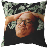 Danny Devito Money Throw Pillow / Pillow cover - funny frank reynolds always sunny meme dorm decor