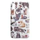 Cats with Wine iPhone Case - Funny Cat iPhone X XS Case - Meme CuisineCats with Wine iPhone Case - Funny Cat iPhone XR Case - Meme Cuisine