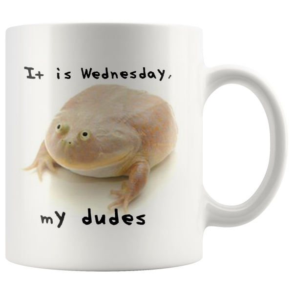Wednesday Frog Coffee Mug - Meme Cuisine - Meme Drinkware