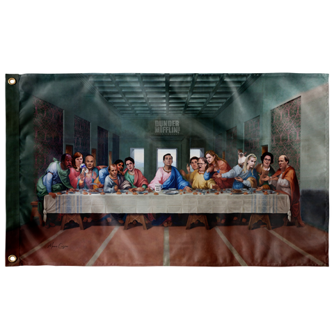 The Last Supper at Dunder Mifflin Wall Flag AMAZON