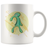 Bold and Brash Spongebob Coffee Mug - funny Squidward painting spongebob gift
