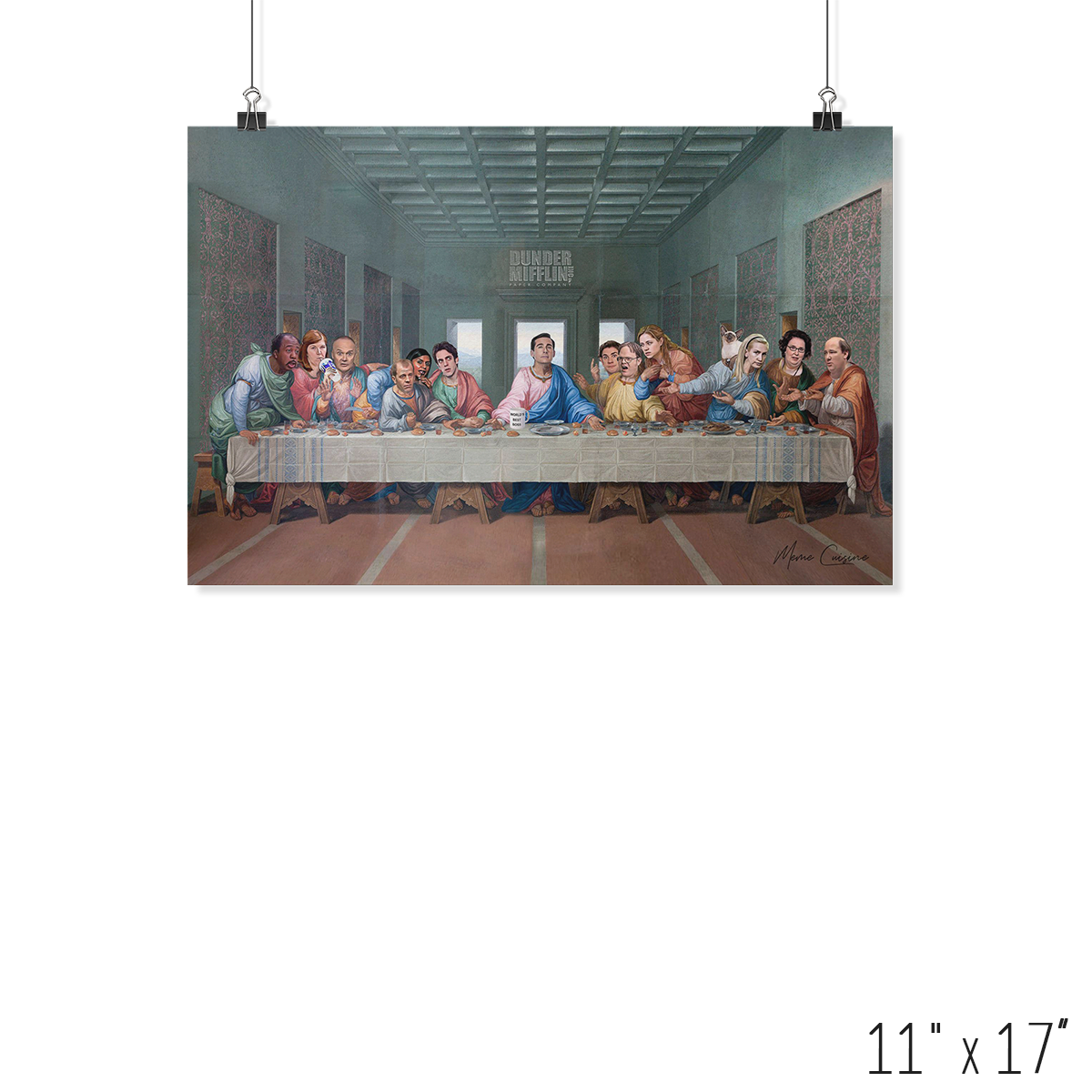 HaoDe The Last Supper at Dunder Mifflin Wall Flag 3x5ft Banner