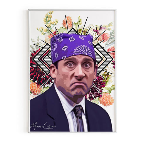 Michael Scott as Prison Mike poster - The office TV Show art, the office gifts
