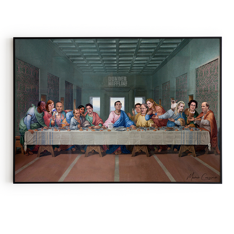 The Last Supper at Dunder Mifflin Poster - The office tv show art gift