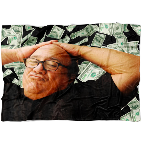 Danny Devito Money Fleece Throw Blanket