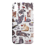 Cats with Wine iPhone Case - Funny Cat iPhone XR Case - Meme Cuisine