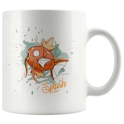 Magikarp Splash Coffee Mug | Funny Pokemon Gifts | Pokemon Lover Gamer Gift