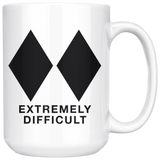 Double Black Diamond Extremely Difficult Mug