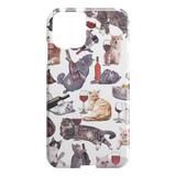 Cats with Wine iPhone Case - Funny Cat iPhone 11 Case - Meme Cuisine