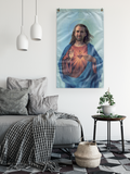 Nicolas Cage as Jesus Wall Flag - Meme Cuisine - Meme Flags
