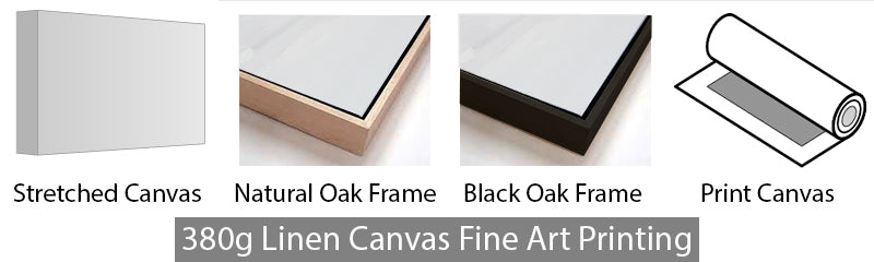 Large linen canvas framing options