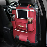 Car Accessories Backseat Organizer PU Leather Auto Back Seat Pocket Storage Waterproof Multi-Pocket Travel Gag