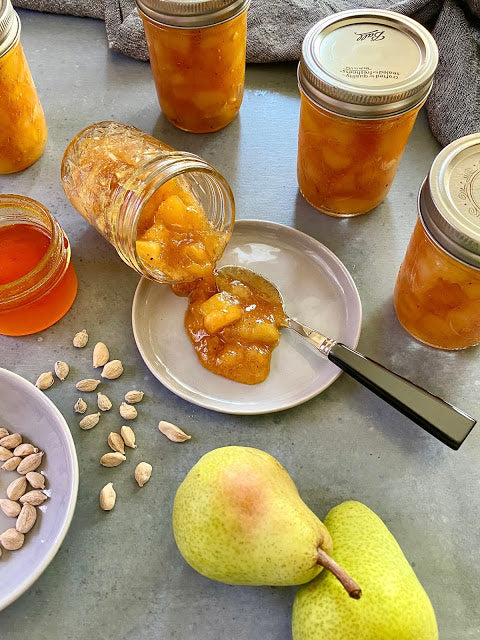 Recipe: Pear Jam with Saffron Infused Honey and Cardamom – Tarragon and Chives