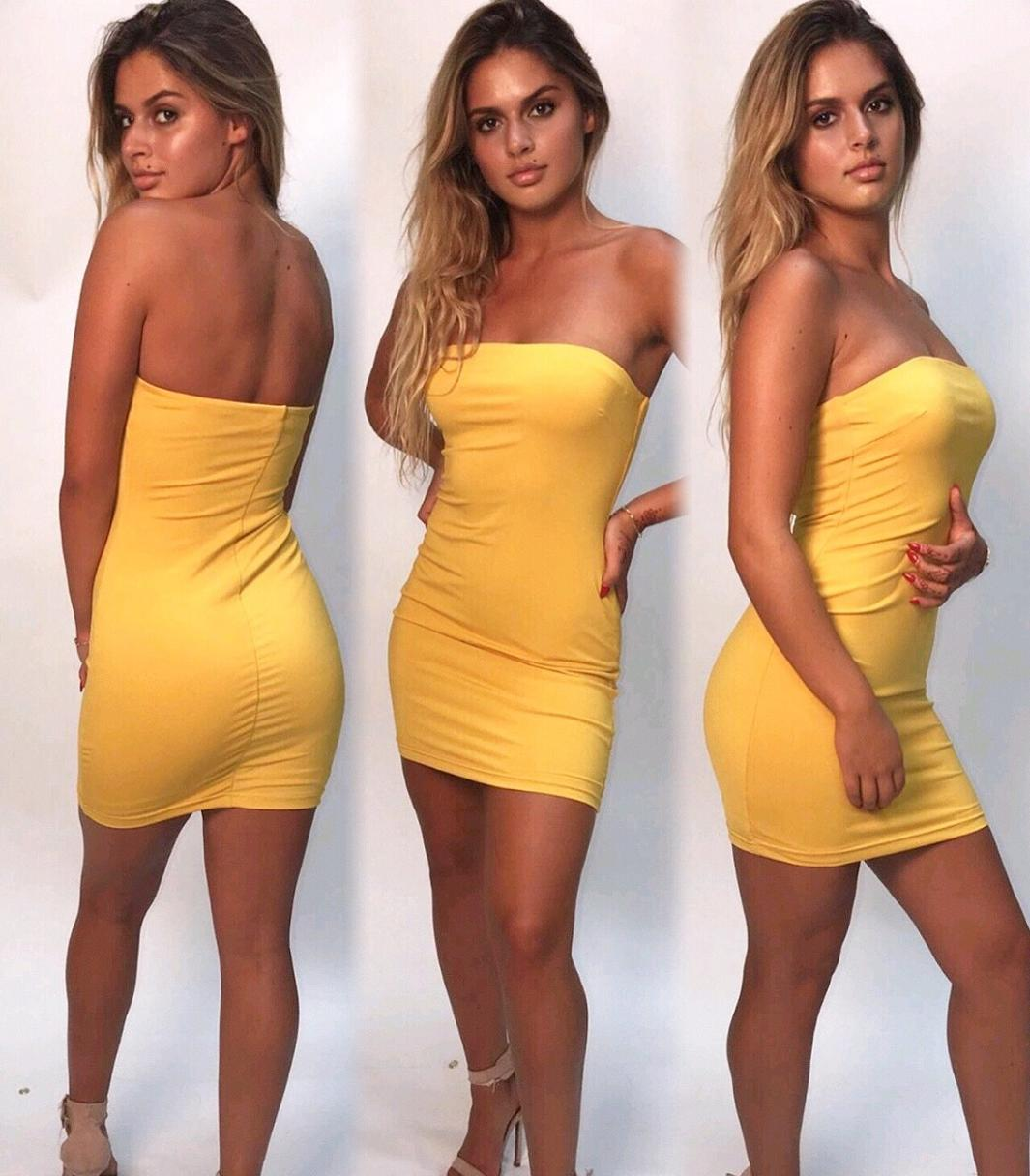 Like a Goddess Dress Yellow