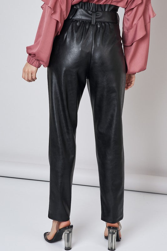 Won't Let You Down Leather Pants