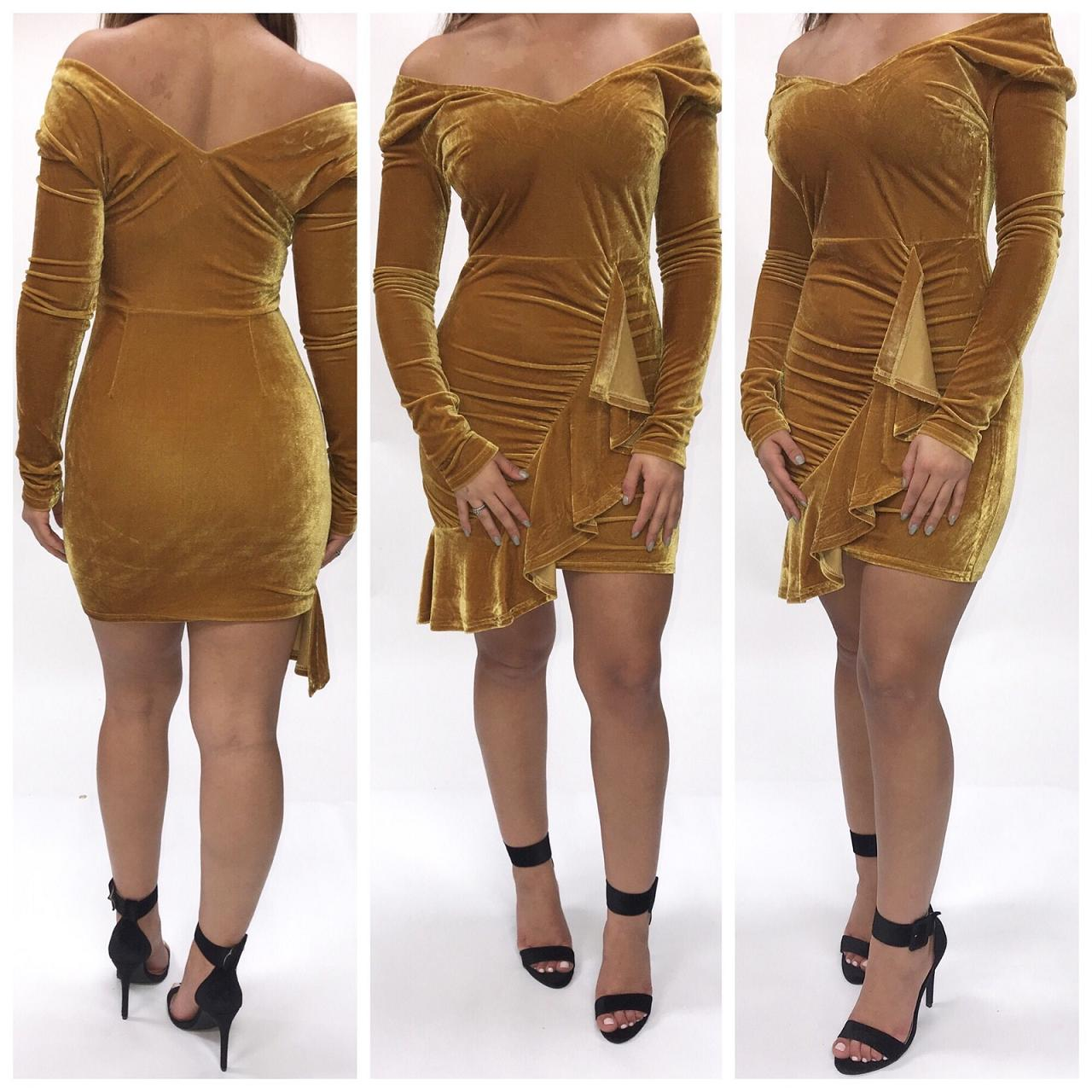 Gold Rush Velvet Dress