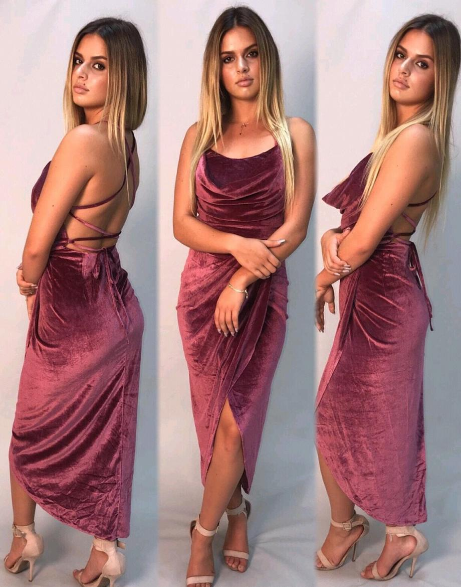 Soft Touch Velvet Dress