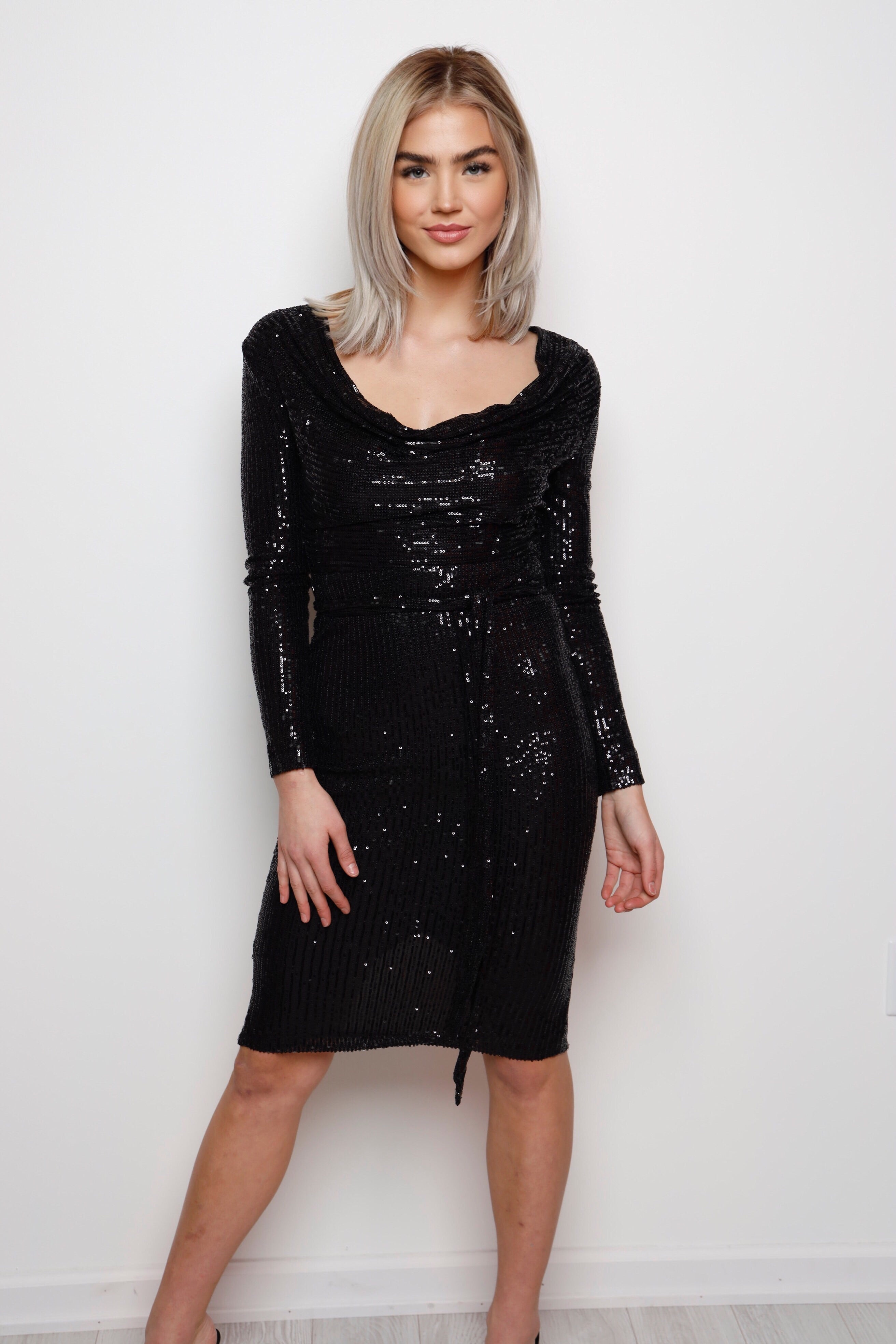 The Night Is Young Dress -Black