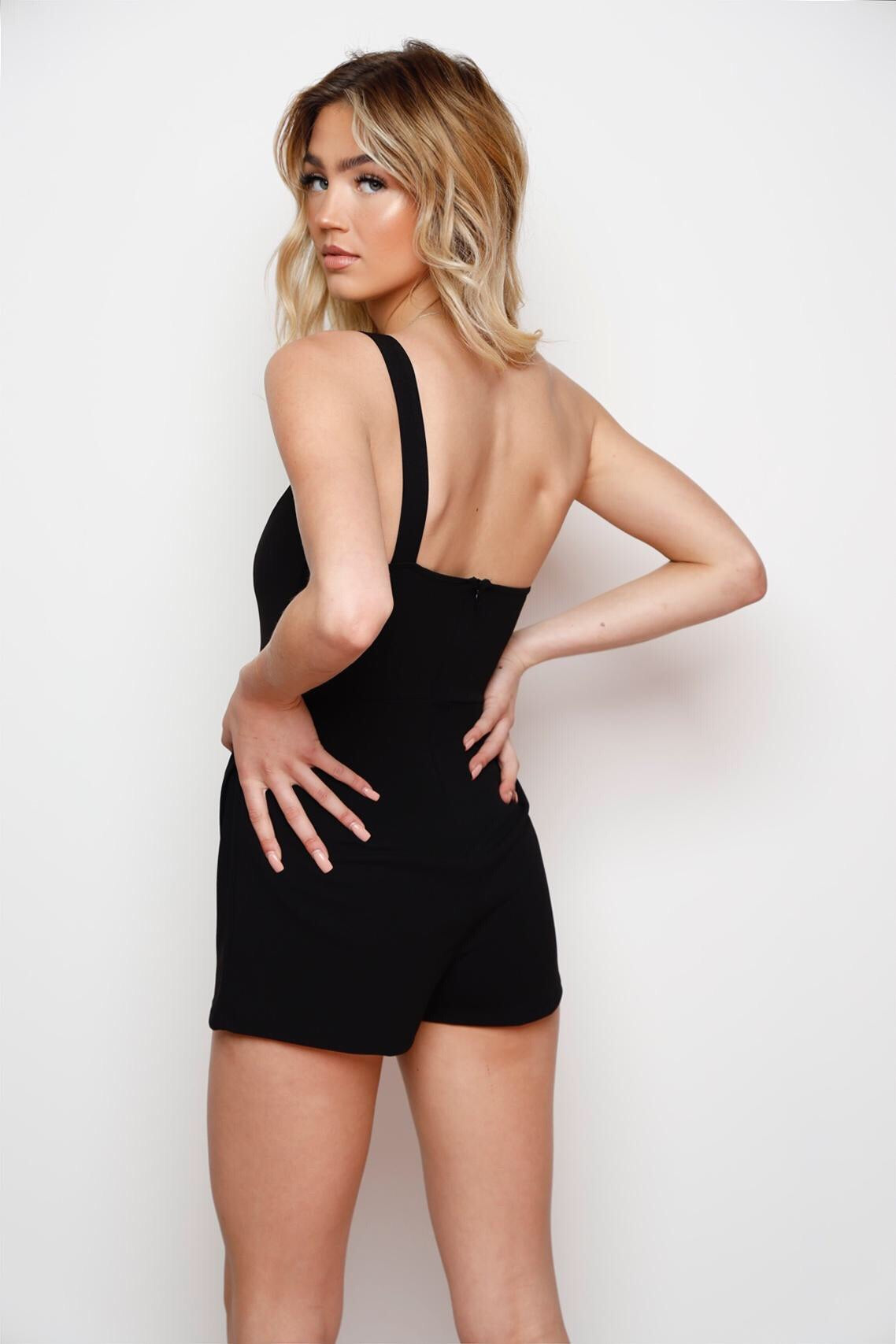 The IT Girl Romper -Black