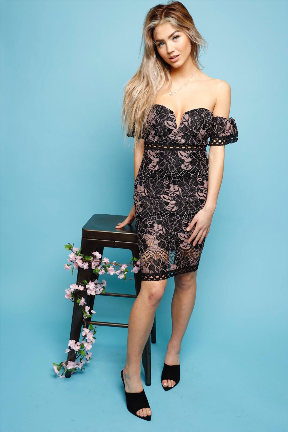 On My Throne Lace Dress