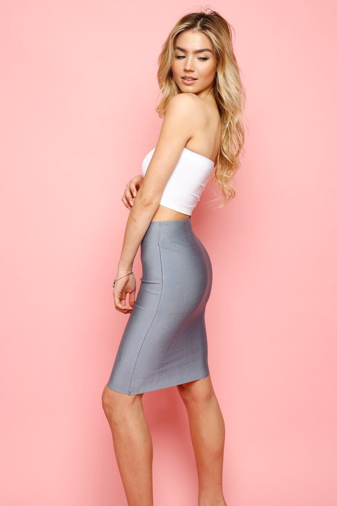 Perfect Bandage Skirt -Slate