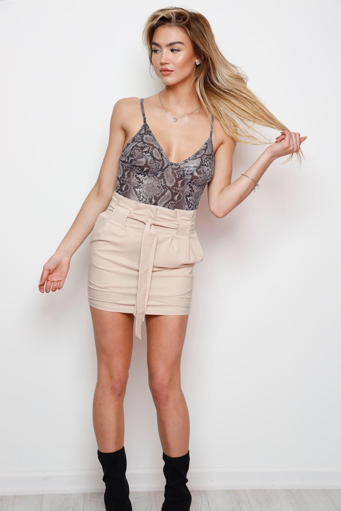 Fly High Skirt -Nude