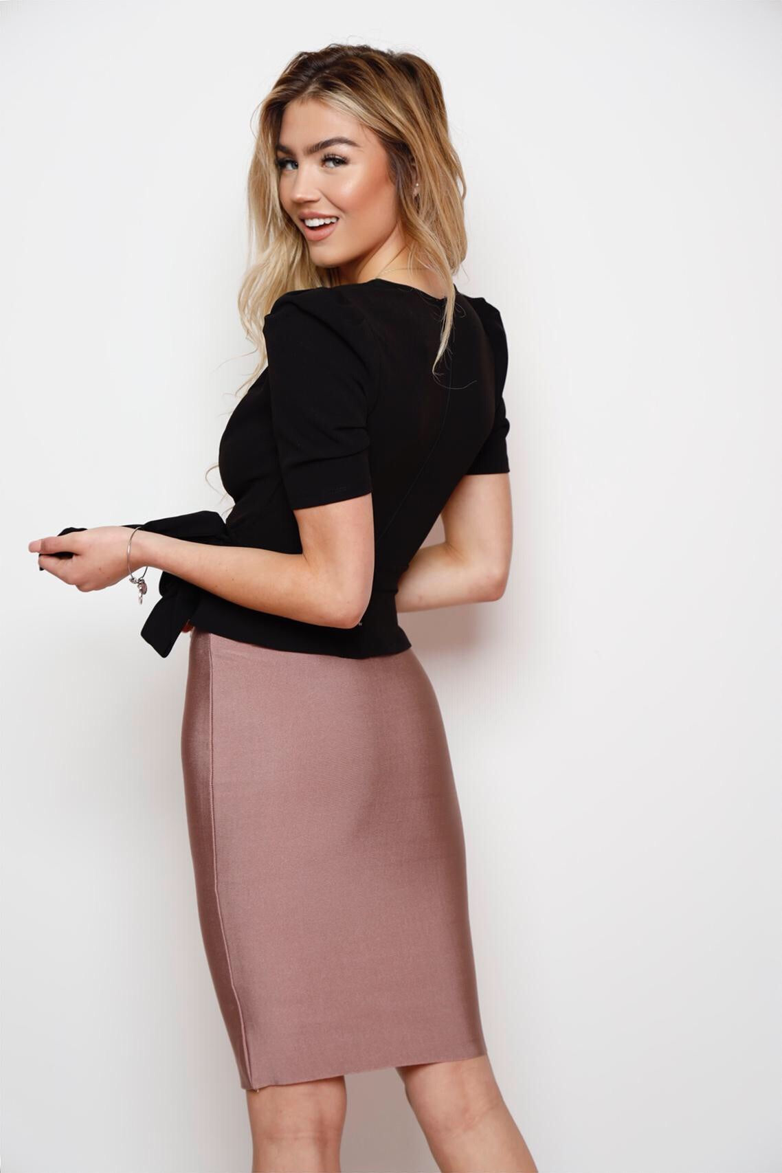 Perfect Bandage Skirt -Mauve