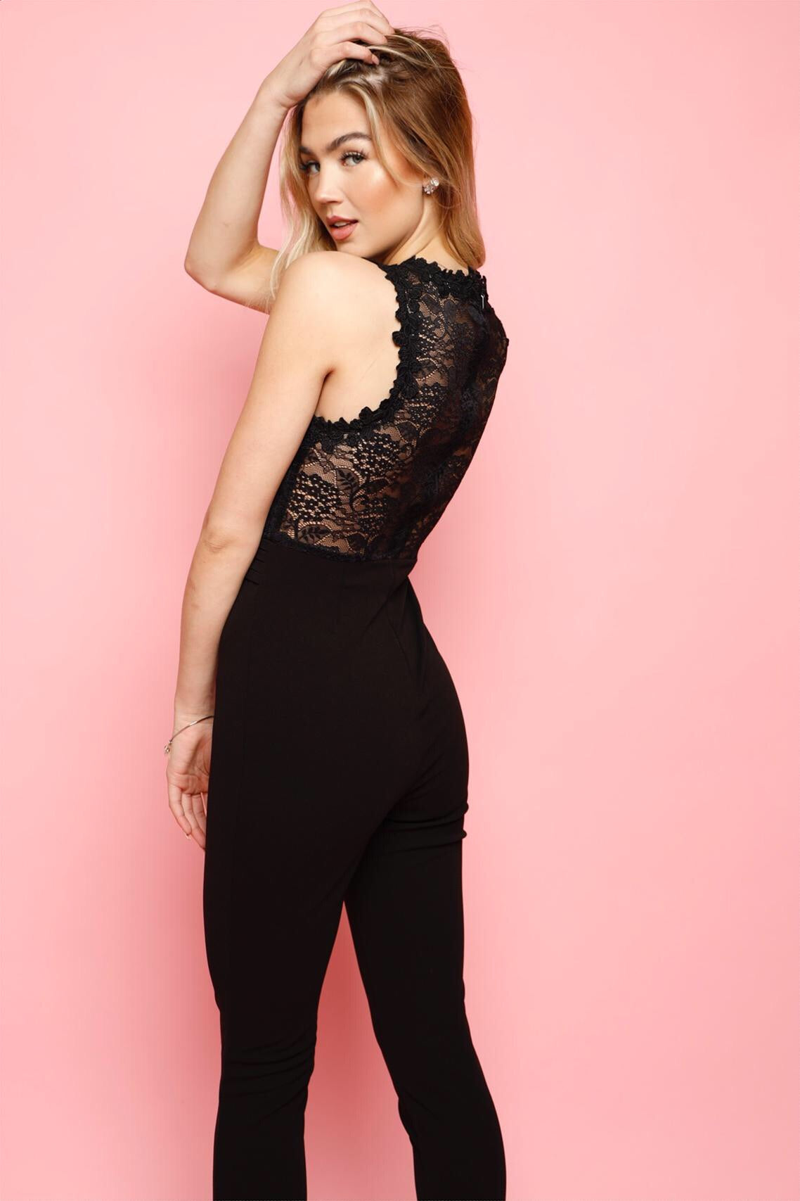 Here For Lace Off Jumpsuit