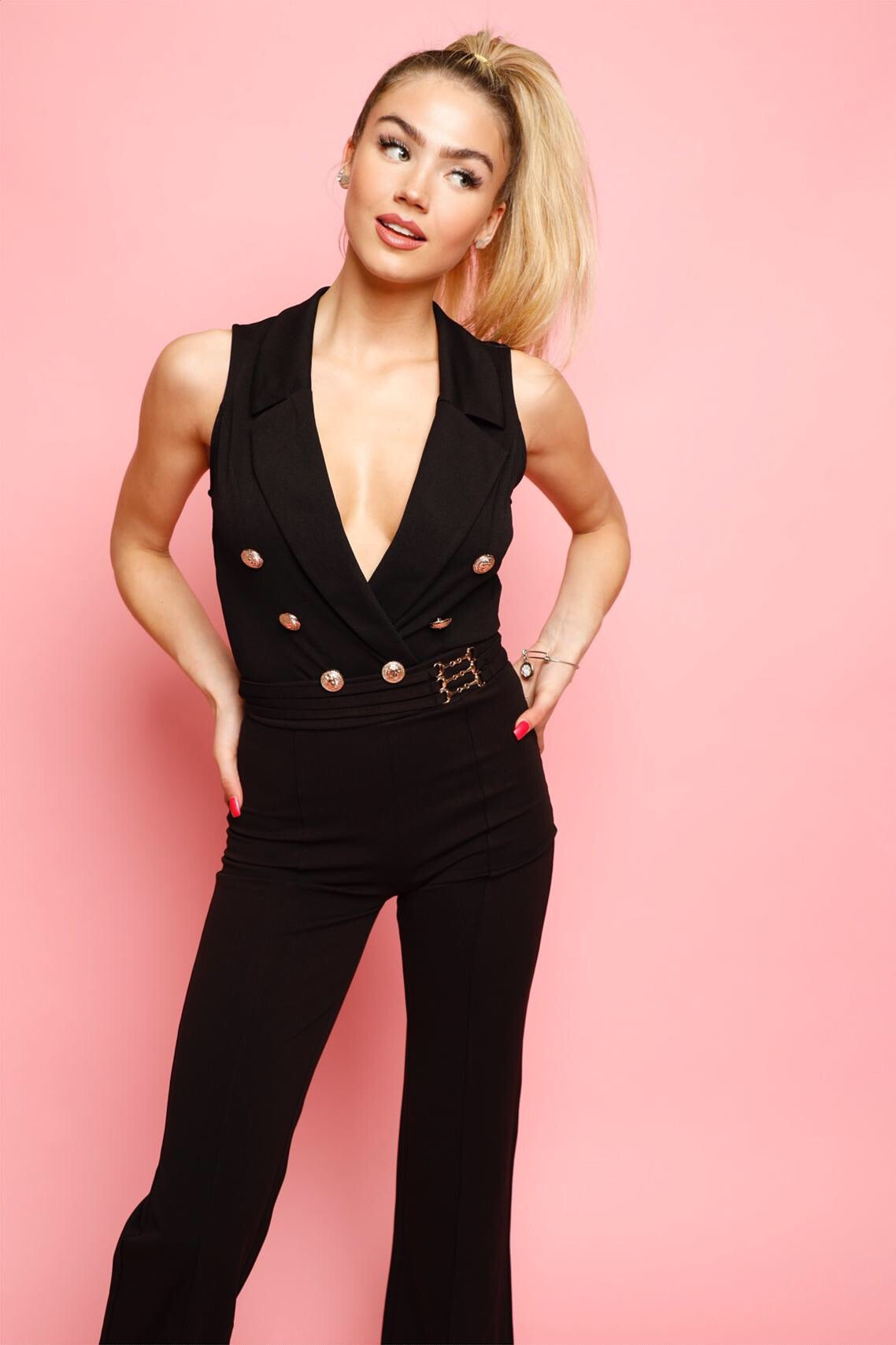 No Button Like You Bodysuit -Black