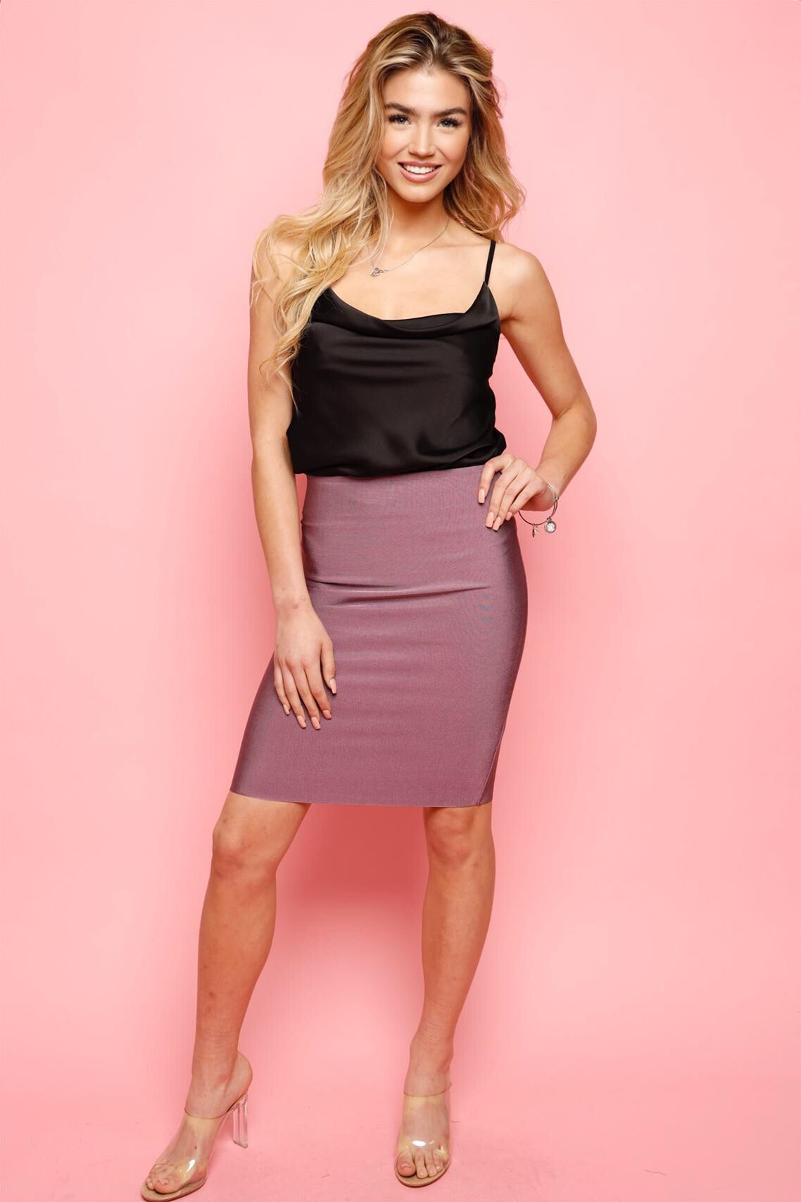 Perfect Bandage Skirt -Berry